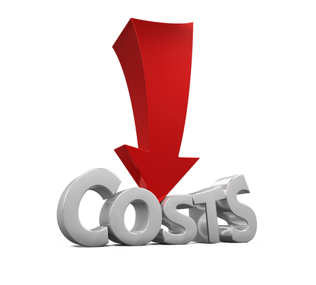 low cost: Costs Reduction Concept