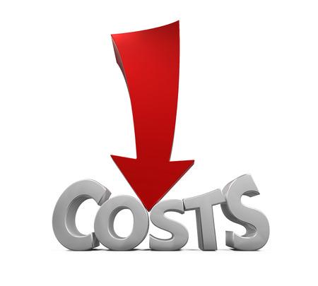Réduction des coût Concept Banque d'images - 47248939