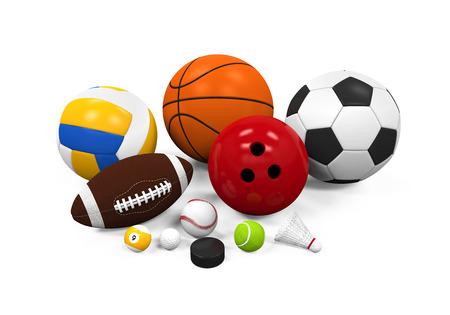 soccer background: Sport Balls Equipment Stock Photo