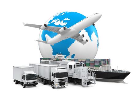 Transport mondial de marchandises Banque d'images - 47454183