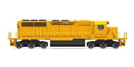 diesel train: Yellow Freight Train