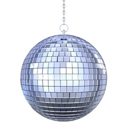 glitter ball: Disco Ball Isolated Stock Photo