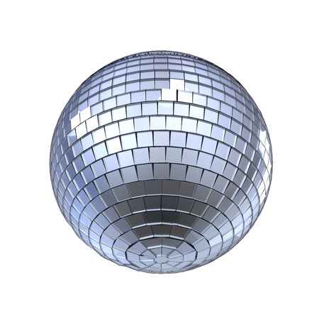 mirror ball: Disco Ball Isolated Stock Photo