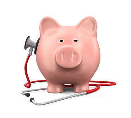 check up: Piggy Bank and Stethoscope