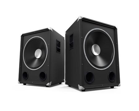 Large Audio Speakers Stok Fotoğraf