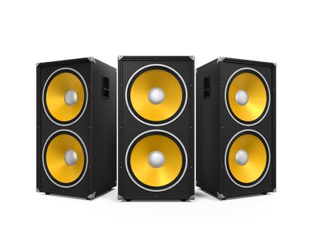 Large Audio Speakers Foto de archivo