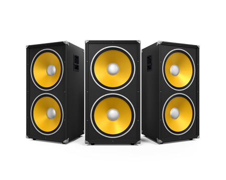 Large Audio Speakers Banque d'images