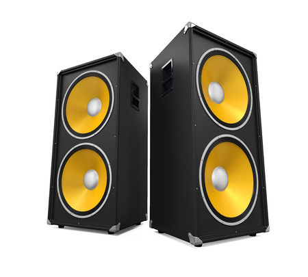 Large Audio Speakers Stock Photo