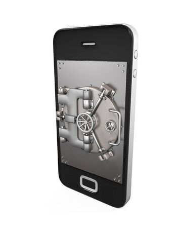 cellular: Mobile Security Concept Stock Photo