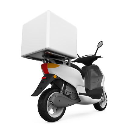 Caja de entrega de la motocicleta Foto de archivo - 48466369