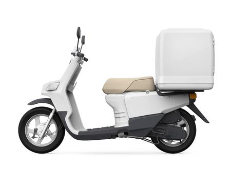 Moto Box Livraison Banque d'images - 48466371