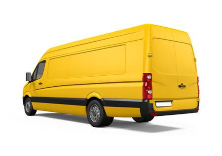 Yellow Delivery Van Stock Photo