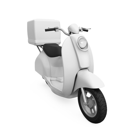 render: Motorcycle Delivery Box