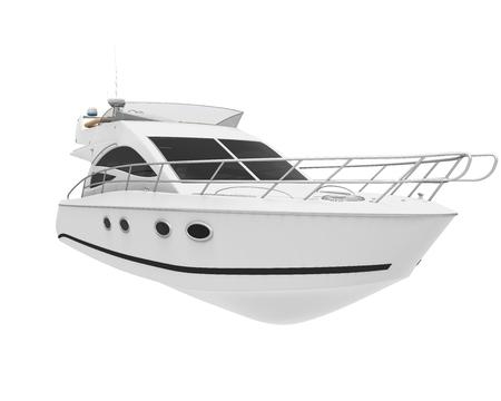 Plaisir Blanc Yacht Banque d'images - 50284540