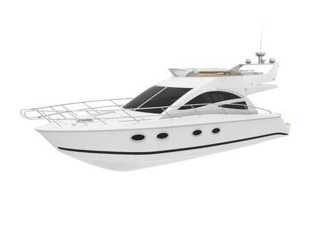 render: White Pleasure Yacht