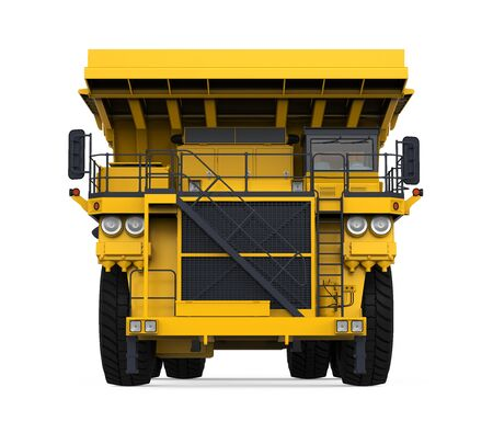 iron ore: Yellow Mining Truck