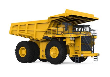 黄色のマイニング トラック 写真素材