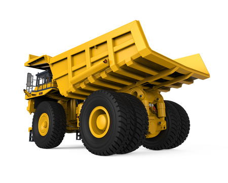 mining truck: Yellow Mining Truck