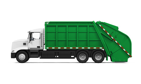 dumptruck: Garbage Truck Isolated
