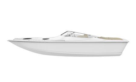 Witte Speedboot Geïsoleerde