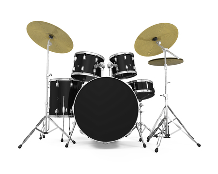 objects with clipping paths: Drum Kit Isolated Stock Photo