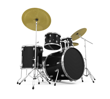 drum kit: Drum Kit Isolated Stock Photo
