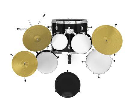 tambor: Kit de tambor aislado Foto de archivo
