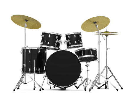 Drum Kit Isolated Stockfoto