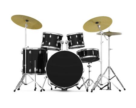 Kit de tambor aislado Foto de archivo