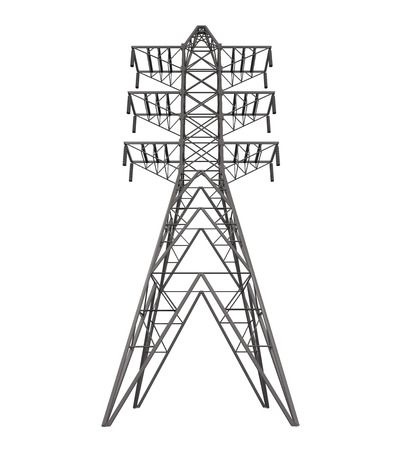 transmission line: Power Transmission Tower Stock Photo