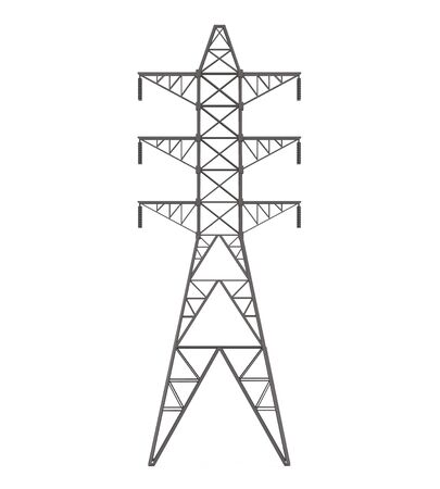 voltage: Power Transmission Tower Stock Photo