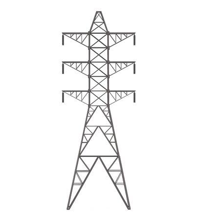amperage: Power Transmission Tower Stock Photo