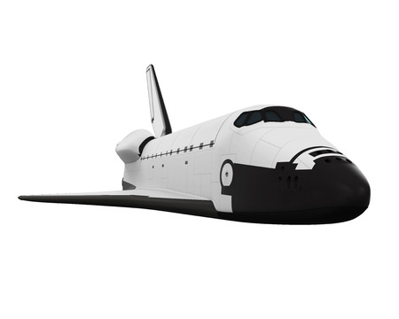 challenger: Space Shuttle Isolated Stock Photo