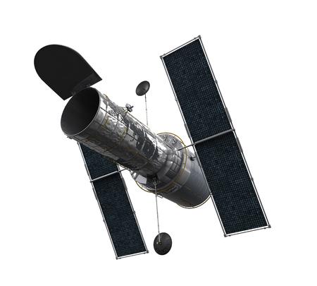 telescope: Space Telescope Isolated Stock Photo