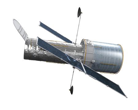 probe: Space Telescope Isolated Stock Photo