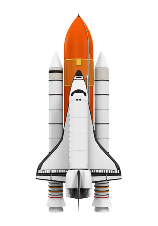 Space Shuttle Isolated Banque d'images