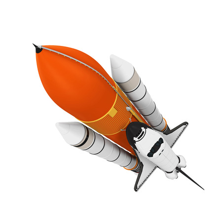 satellite space: Space Shuttle Isolated Stock Photo