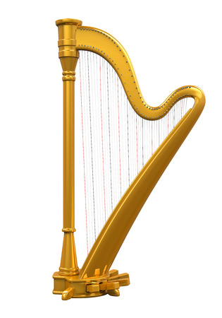 gouden Harp Stockfoto