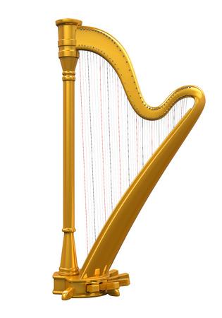 instruments de musique: Harpe d'or