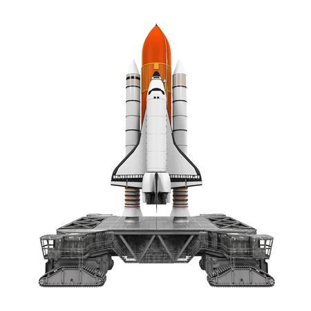 우주 왕복선 및 모바일 런처 플랫폼 스톡 콘텐츠
