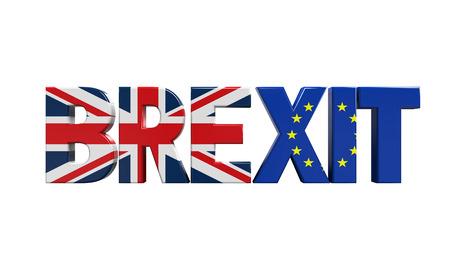 Brexit tekst geïsoleerd Stockfoto