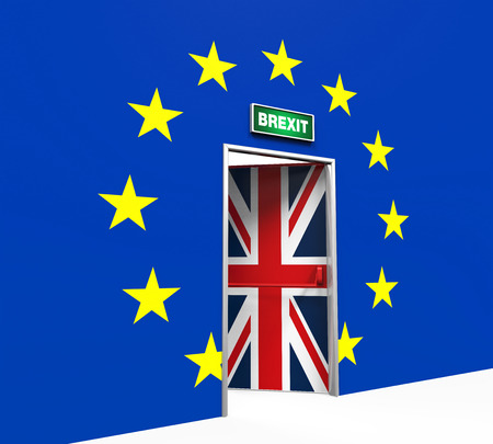 Brexit Door Illustration Banque d'images