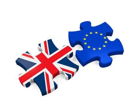 Brexit Puzzelstukjes Stockfoto