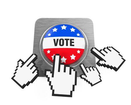 vote button: Vote Button Isolated