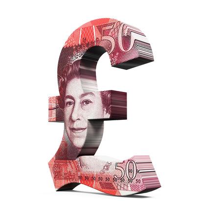 libra esterlina: Gran Bretaña Libra símbolo