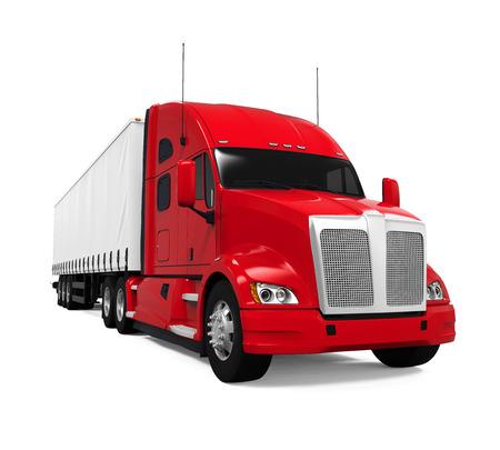 Czerwona Ciężarówka Zdjęcie Seryjne