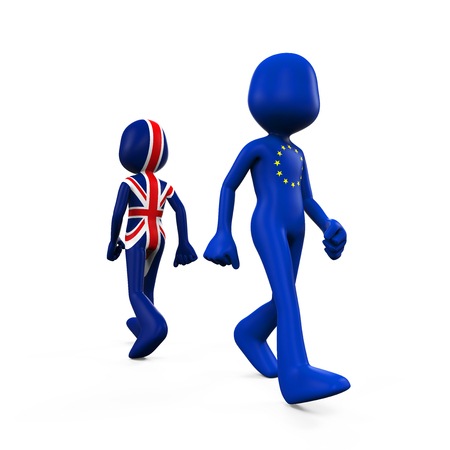 walk away: Great Britain and European Union Character