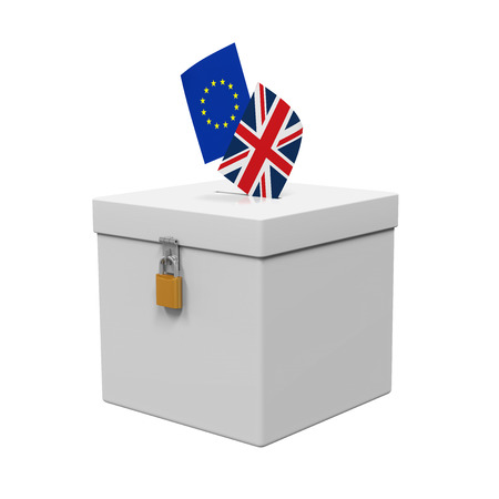 Brexit Referendum Illustration Reklamní fotografie