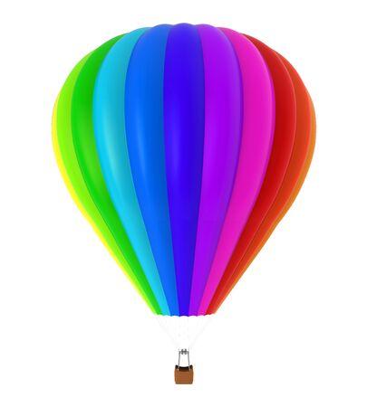 rainbow colors: Hot Air Balloon Stock Photo