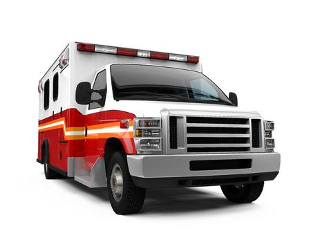 car isolated: Ambulance Car Isolated Stock Photo